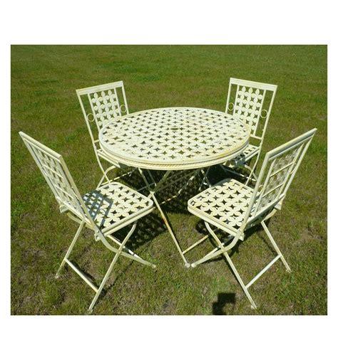 mobili da giardino in ferro battuto mobili da giardino in ferro battuto con tavolo rotondo e 4
