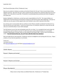 Room Parent Letter Introduction Room Parent Intro Letter And Info Request Pto Today