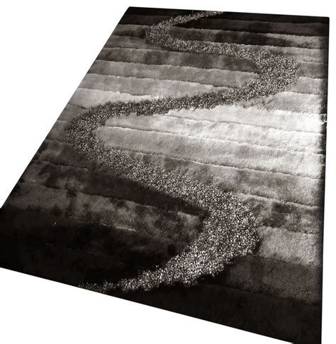 Black And Grey Area Rug by Rug Living Room Shaggy Area Rug Area Rugs Houzz
