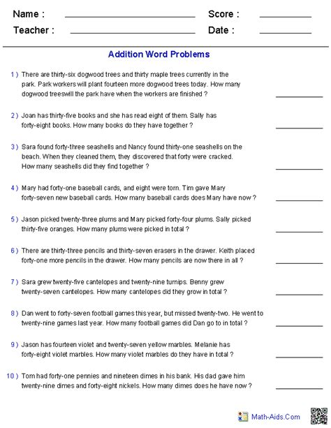 Word Problems Practice Worksheets by Addition Word Problems Takes A Load Of Work Of Me