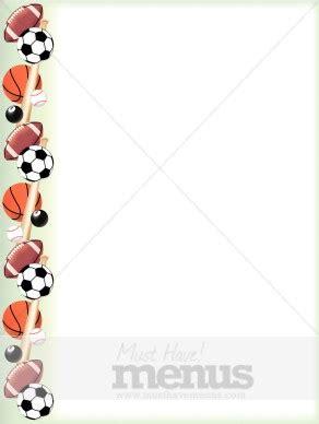 sports balls border sports menu backgrounds