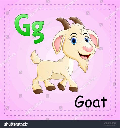 animal alphabet character stock vector vector illustration animals alphabet g goat stock vector