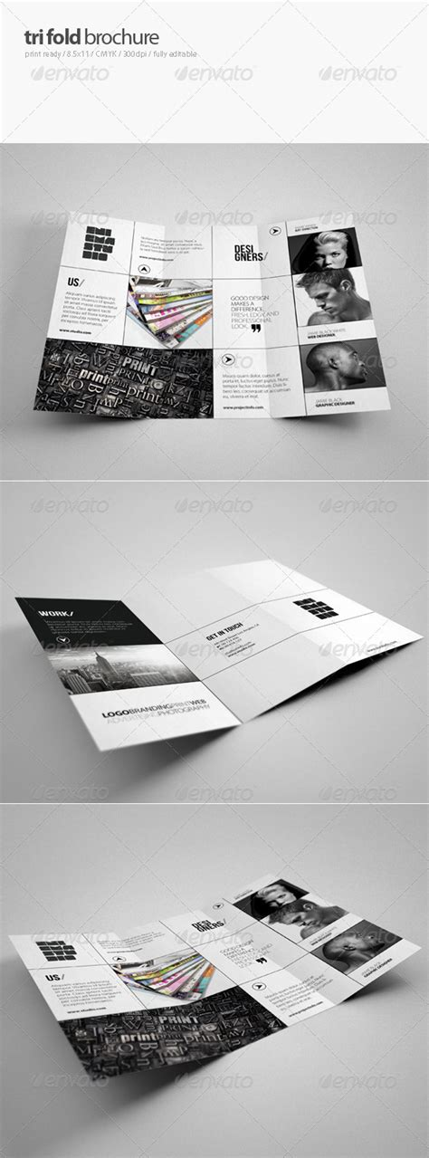 tri fold brochure template indesign cs6 creative tri fold brochure graphicriver