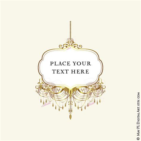 Crystal And Gold Chandelier Chandelier Clipart Elegant Frame Pencil And In Color