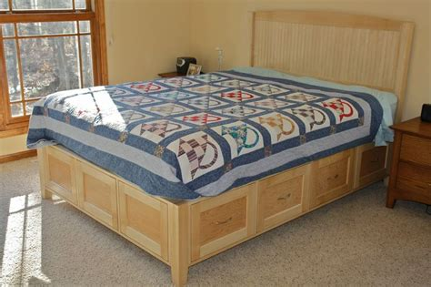 Maple Platform Bed With Drawers 169 Best Images About Wood Bed Amp Tall Dresser On