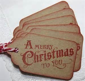 vintage christmas gift tags set of 6