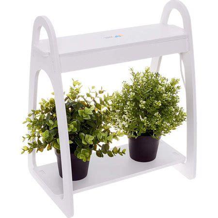 mindful design white led indoor  home mini planter