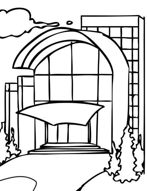 shopping mall coloring pages