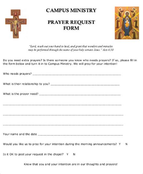 prayer request template prayer request form www pixshark images galleries