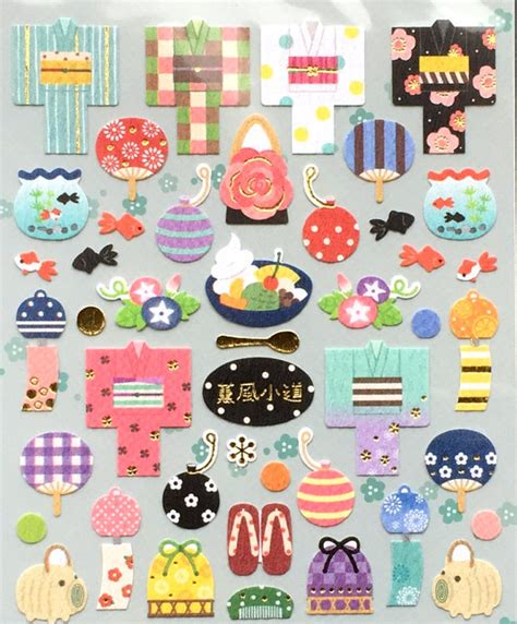 cute japanese themes cute japanese stickers summer theme chiyogami paper stickers