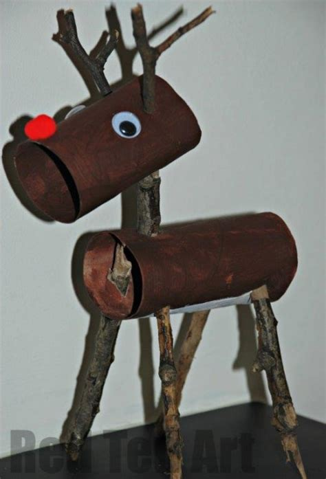 christmas craft using toilet rolls 14 rudolph crafts for crafts