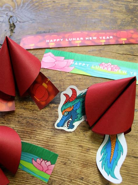 lunar new year fortune happy lunar new year and fortune cookie printable