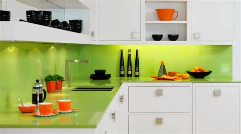 Decorating Ideas For Kitchen Countertops by White Linear Kitchen With Glass Splashback From Harvey Jones