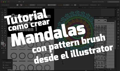 Como Hacer Un Pattern Brush En Illustrator | tutorial como crear mandalas con pattern brush en illustrator