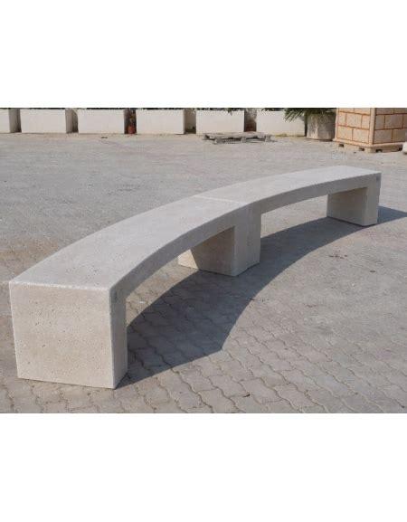 panchine in cemento prezzi panchina curva in cemento per arredo urbano colore bianco