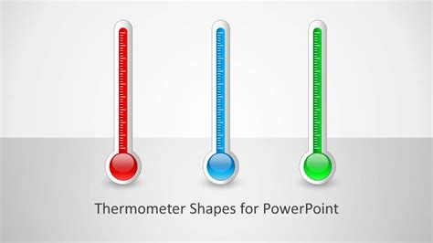 powerpoint thermometer template thermometer shapes for powerpoint slidemodel