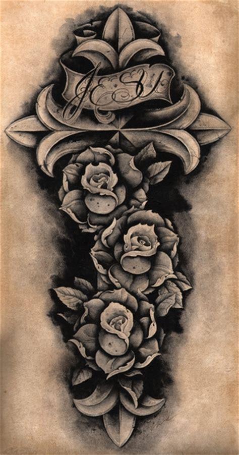 latin tattoo flash jesu cross clark north roses latin mexican catholic tattoo