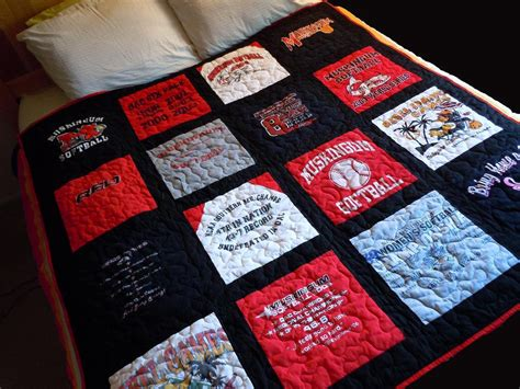 Handmade T Shirt Quilts - custom made memory t shirt quilts deposit only