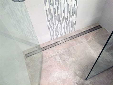 Bathroom Threshold by Column Zero Threshold Showers