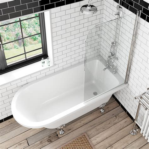 shower bath and screen the bath co shakespeare freestanding shower bath and bath