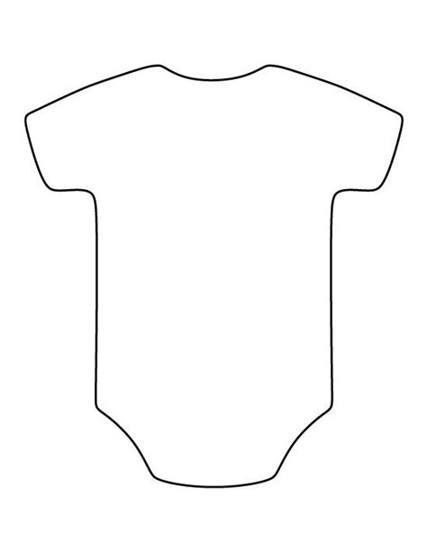 printable shapes for babies onesie pattern use the printable outline for crafts