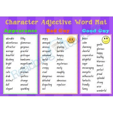 new year story word mat character adjective word mat writing resources