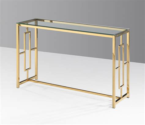 stainless steel sofa table e24 gold stainless steel glass sofa table
