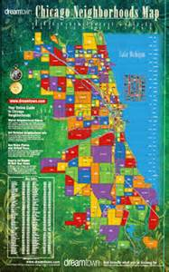 Chicago Map Poster by Chicago Neighborhoods Map Dream Town Realty