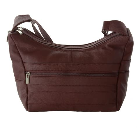 Pocket Genuine Size 5y s genuine leather purse mid size pocket shoulder bag handbag new ebay
