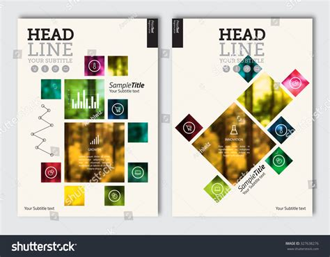magazine layout design elements business brochure design template vector flyer stock