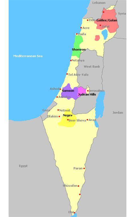 Search Israel Israel Regionen Karte