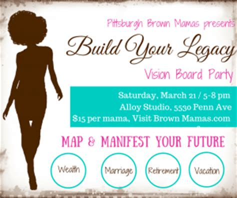 Brown Mamas Host Vision Board Party Brown Mamas Vision Board Invitation Template