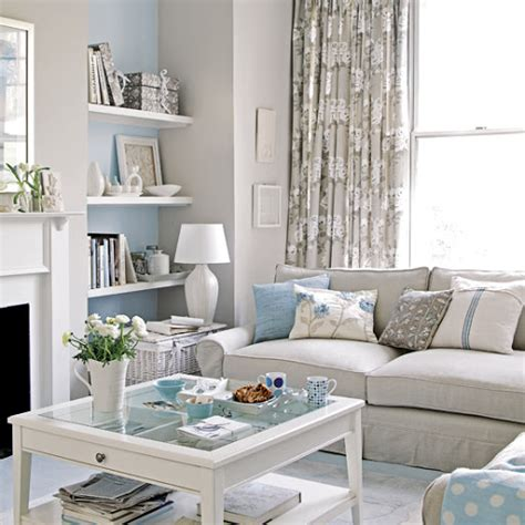 coastal living room idea theme gray blue color