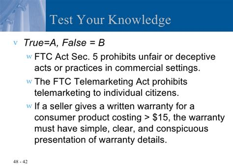 section 15 of consumer protection act chapter 48 the federal trade commission act and consumer
