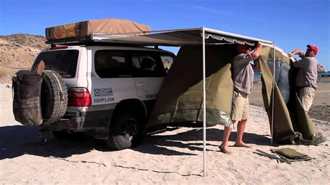 arb awning review eezi awn rec vee awning panels youtube