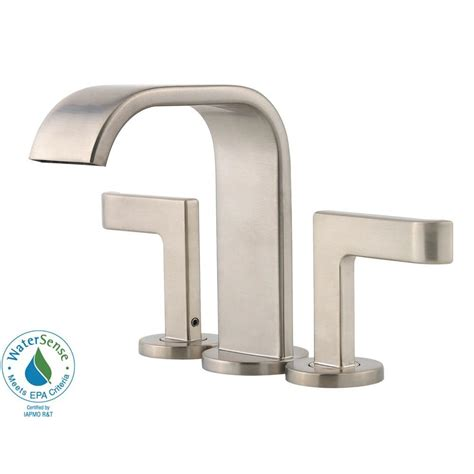 bathtub faucet home depot pfister skye 4 in centerset 2 handle high arc bathroom faucet in brushed nickel f 046