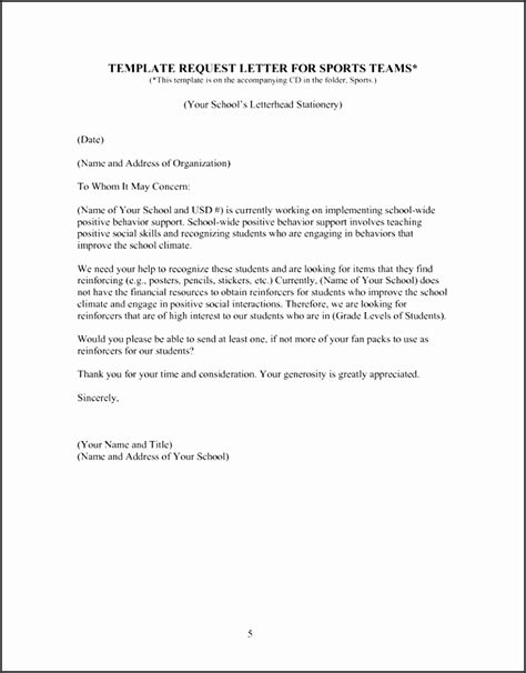 sponsorship letter template for sports team sle sponsorship request letter for sports team
