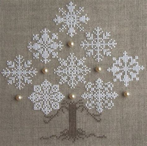 christmas tree snowflake patterns cross stitch snowflake tree 640x638 113kb stitchery trees
