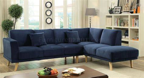 hagen sectional sofa cm6799nv in navy fabric