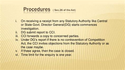 section 208 of the ina section 3 of competition act 28 images cci says