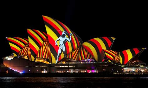 indigenous artists illuminate sydney opera house in light