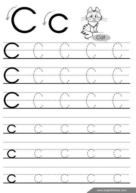 letter c worksheets letter c tracing worksheet for esl teachers worksheets 1357