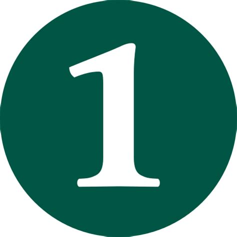Green Mba Number 1 by File 1 Green Svg Wikimedia Commons