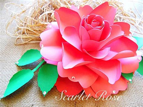 diy paper rose flower templates and svg files diy large