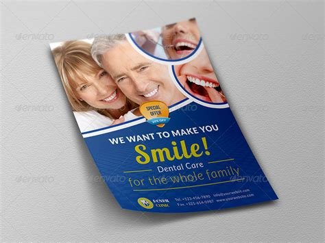 dental clinic flyer template by owpictures graphicriver