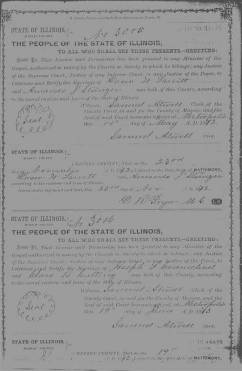 Illinois Marriage Records Massac County Il Usgenweb Archives