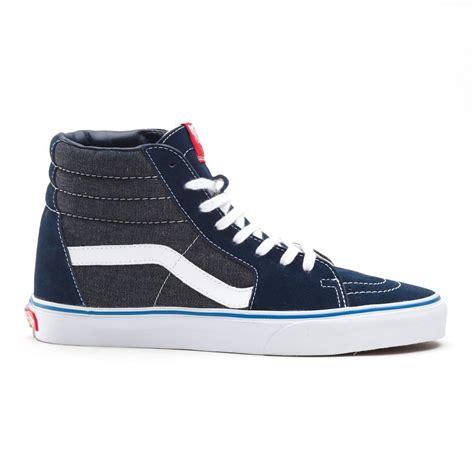 high top vans sneakers buy vans u sk8 hi high top skater shoes suede denim blue
