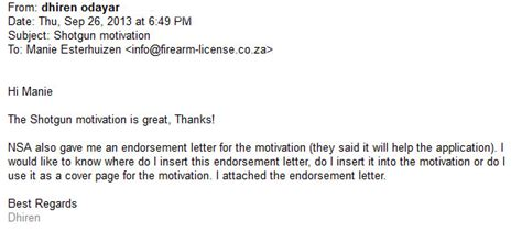 Testimonials 2013 Firearm License testimonials 2013 171 firearm license co za