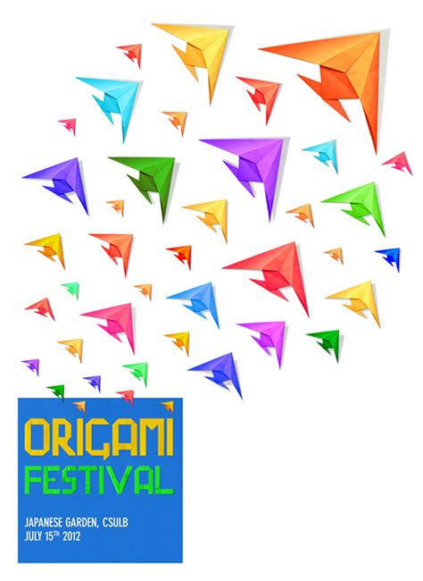Origami Poster - origami festival poster on behance