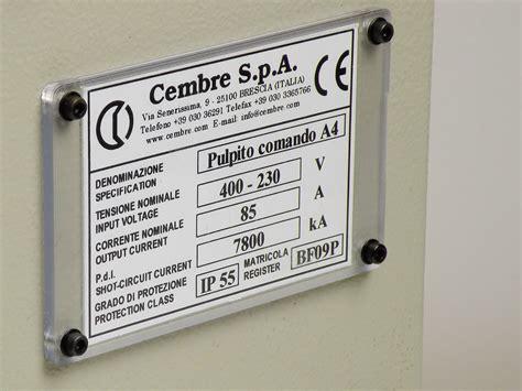 ufficio compliance targhe quadro mg2 vrt r